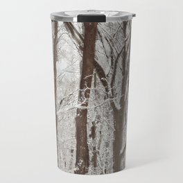 Trees in winter Travel Mug