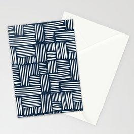 Navy blue stitch Stationery Cards