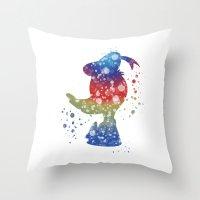 donald duck Throw Pillows featuring Donald Duck Disneys by Carma Zoe