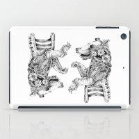 clockwork iPad Cases featuring clockwork bear by vasodelirium