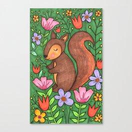 Spring Squirrel Canvas Print