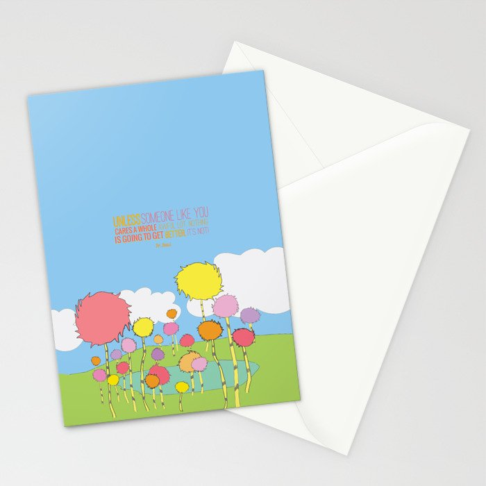 Unless someone like you cares a whole awful lot stationery cards by unless someone like you cares a whole awful lot stationery cards m4hsunfo