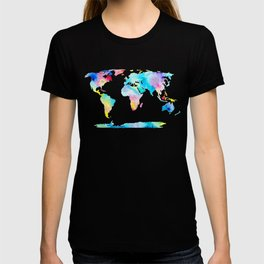 The Places We'll Go - Watercolor World Map T-shirt