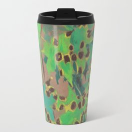 Dotty leaves, fall floral, pastel drawing, life sketch, nature art Travel Mug