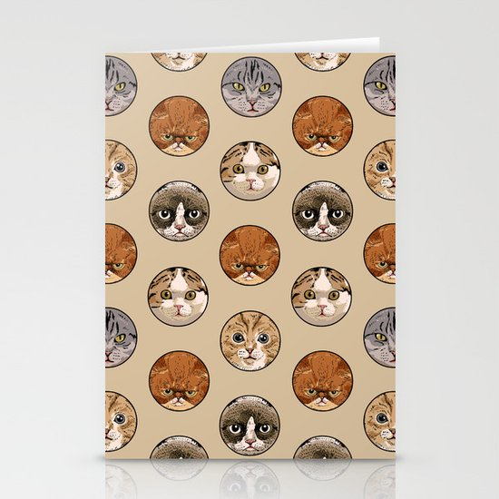 Polka Meaw Stationery Cards