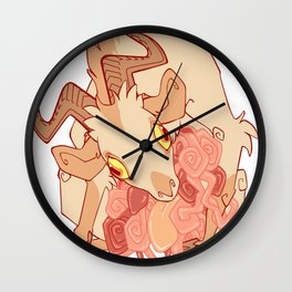 Gut Wretched Goat Wall Clock