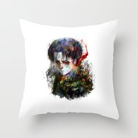 snk Throw Pillows featuring strongest by ururuty
