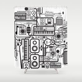 Audio Connected Shower Curtain