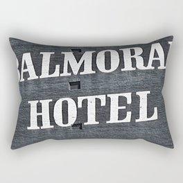 Balmoral Hotel Sign  Rectangular Pillow