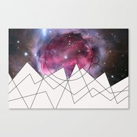 outer space Canvas Prints featuring Outer Space by FlurinaJT