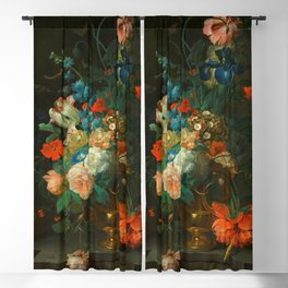 """Coenraet Roepel """"Still Life with Flowers"""" Blackout Curtain"""