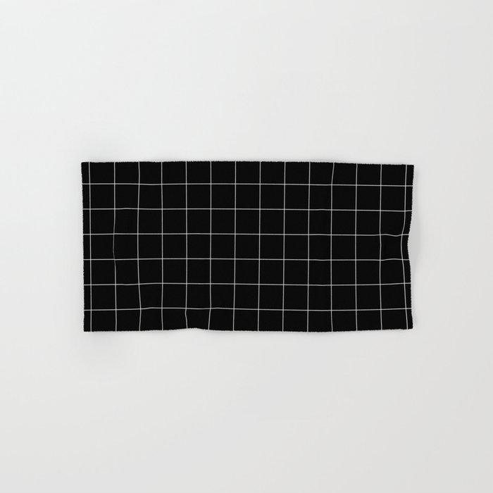 Black Grid /// www.pencilmeinstationery.com Hand & Bath Towel
