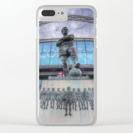 Booby Moore Statue Wembley Stadium Clear iPhone Case