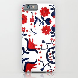 Maryland Cottage Floral iPhone Case