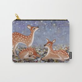 whitetail fawns under the stars Carry-All Pouch