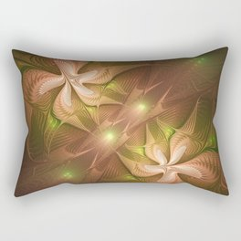 Abstract Fractal Two Dancers Rectangular Pillow