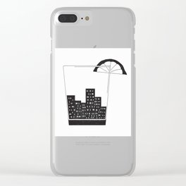 Cocktail City Clear iPhone Case
