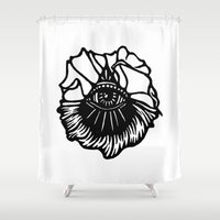 third eye Shower Curtains featuring Third Eye by Cecile Psicheer