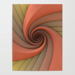 Spiral in Earth Tones Poster