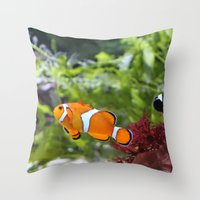 finding nemo Throw Pillows featuring Finding Nemo! by Becky Dix