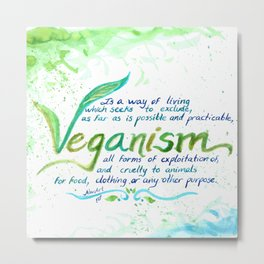 Veganism - definition Metal Print