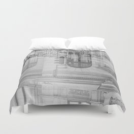 city chaos theory Duvet Cover
