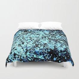 Blue Spat Duvet Cover