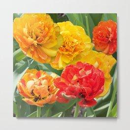 Summer flower collage Metal Print