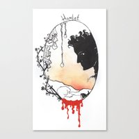 hamlet Canvas Prints featuring Hamlet by Gardensounds