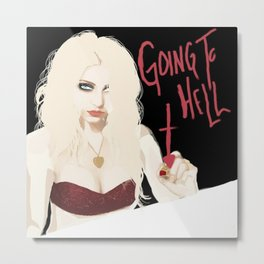 Taylor Momsen Going to hell. Metal Print