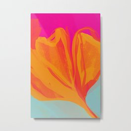 The Abstract Fire Flora Metal Print