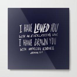 Everlasting Love x Navy Metal Print