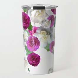 Graphic Floral Scatter Travel Mug