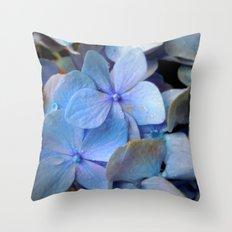 Hydrangea Happy Throw Pillow