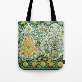 Textile Border Painting circa 1850 recolored Tote Bag