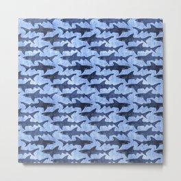 Blue Ocean Shark Metal Print