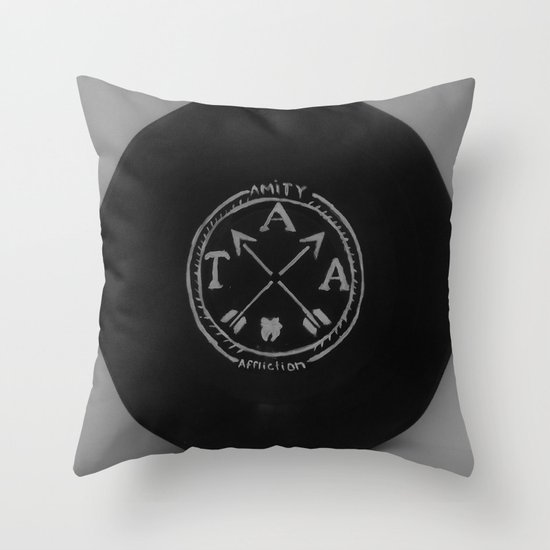 Vinyl Throw Pillows : The Amity Affliction on Vinyl Throw Pillow by Sarah Hinds Society6