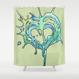 Watercolor Heart II Shower Curtain