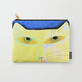 Funky Yellow Cat Abstract Digital Painting Carry-All Pouch