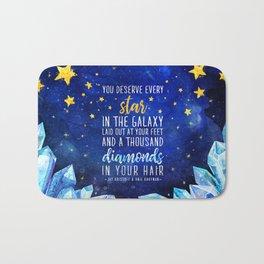 Star and Diamonds Bath Mat