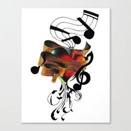 A Tuned Heart Canvas Print