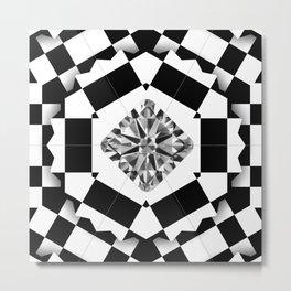 Carre Diamond in Black&White Box Metal Print