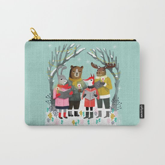Woodland Christmas Carols by Andrea Lauren  Carry-All Pouch