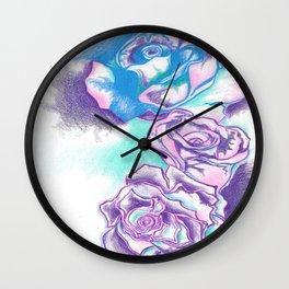 Contouring Roses Wall Clock