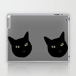 can I pet your cat? no. black cat portrait Laptop & iPad Skin