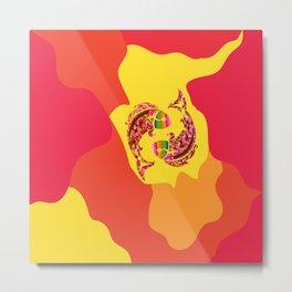 Pisces neon Metal Print