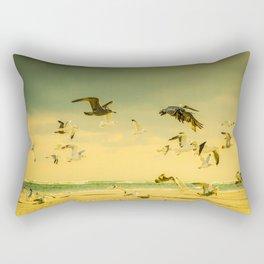 Golden Flight In Color Rectangular Pillow