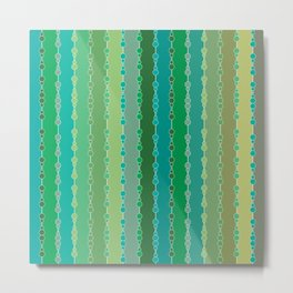 Multi-faceted decorative lines 6 Metal Print