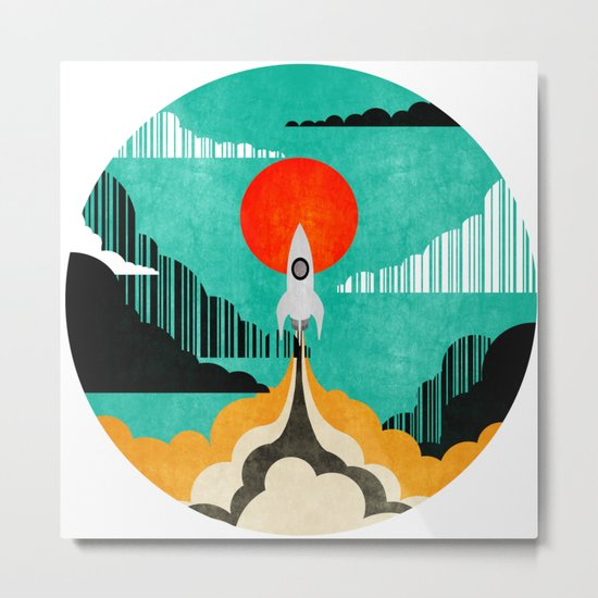 Spaceship C Metal Print