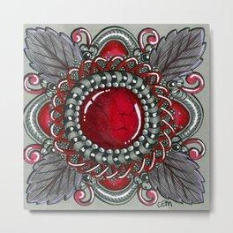 Ornate Ruby Metal Print
